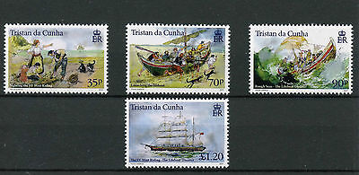Tristan da Cunha 2015 MNH Lifeboat Disaster SV West Riding 4v Set Boats Ships