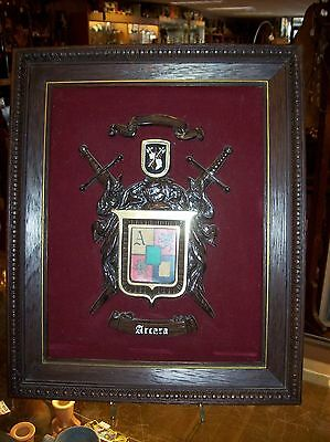 Halbert's Library Of Arms Arcara Coat of Arms Crest Raised Picture Plaque