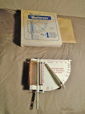 Vintage Weatherrama Rain Gauge Farmer's Coo-op Supply Promotion Hillsboro KS