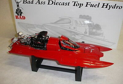 Bad Ass 1/18 Top Fuel Drag Boat Plain Red Diecast