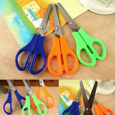 Safety Scissors With Ruler Edge For Childrens Kids School Home Paper Cutting New