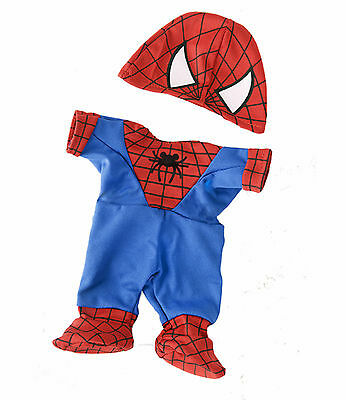 "'Spiderman' Teddy outfit / clothes to fit 15""/16"" build a bear factory"