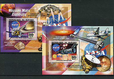 Burundi 2014 MNH NASA ESA Telescopes & Probes 2x Deluxe S/S Space Hubble Saturn