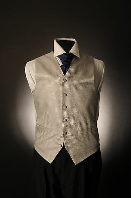 W-603 Dark Silver Mesh Wedding Waistcoat Formal/dress/wedding/suit