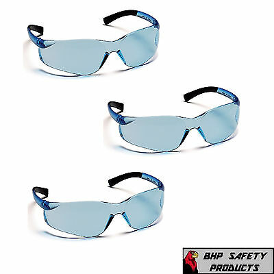 Pyramex Ztek Safety Glasses Infinity Blue S2560S Sport Work Eyewear Z87+ (3 Pr)