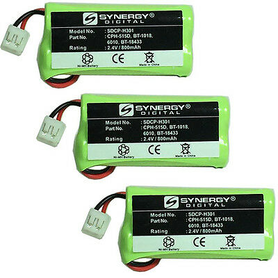 Motorola L704M Cordless Phone Battery Combo-Pack: 3 x SDCP-H301 Batteries