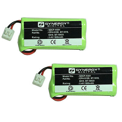 RCA VISYS 25055 Cordless Phone Battery Combo-Pack: 2 x SDCP-H301 Batteries