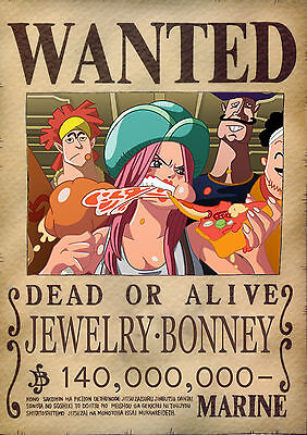 AFFICHE WANTED PORTGAS D ACE. STICKER AUTOCOLLANT POSTER A4 MANGA ONE PIECE