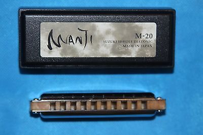 Manji Suzuki 10 Hole Diatonic Natural Minor Harmonica, Key of  Cm
