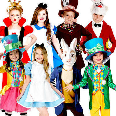 Alice In Wonderland Kids Story Fairytale World Book Day Child Childrens Costumes