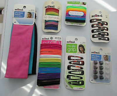 Scunci Headbands Hair Ties and Accessories Lot  NEW IN PACKAGING