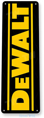 "TIN SIGN ""Dewalt"" Mechanic Gas Oil Auto Power Tools Toolbox Garage Shop B074 #"