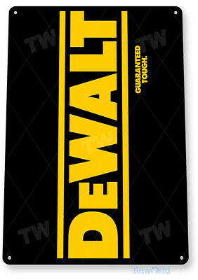 TIN SIGN Dewalt Tough Mechanic Auto Power Tools Toolbox Garage Shop B079