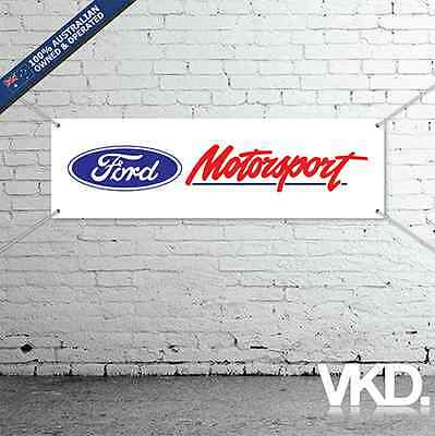 Ford Motorsport Banner - Man Cave Work Shop Garage Shed Falcon XR8 XR6 Mustang