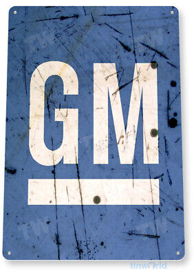"TIN SIGN ""GM Retro"" General Motors Service Auto Sales Shop Garage Store B097"