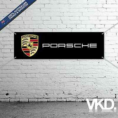 Porsche Banner - Man Cave Work Shop Garage Shed Turbo S 911 GT3 GT2 944 356 928