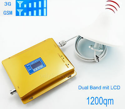 GSM 900MHz + 3G WCDMA 2100MHz  Dual Band Mobile Phone Signal Booster Amplifier