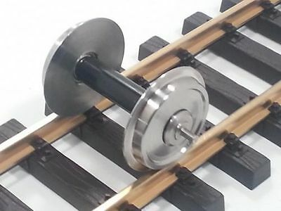 Train Line45 Stainless steel wheel set 2 Pcs with ball bearings in the Wheels,