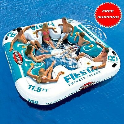 8-Persons LARGE Inflatable Rafting Floating Relaxing Water Giant Seating Lounge