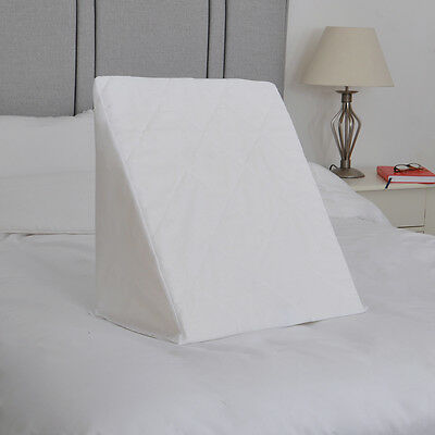 Quilted Polycotton Cover for Bed Wedge Pillow Replacement Pillowcase Washable