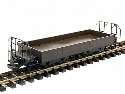 Train Line45 Low sided wagon,brown,with Brakeman'S platform,plastic wheel sets,S