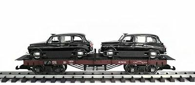 Zenner Car carrying truck London Taxi Austin,G Scale,Bachmann Flat wagon,