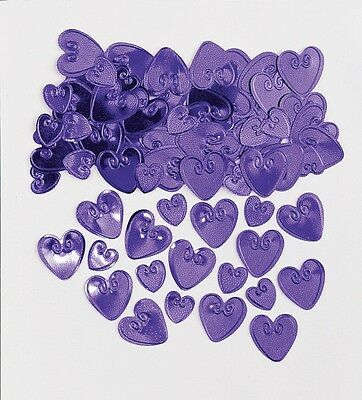 Purple Loving Hearts | Heart Wedding Table Confetti | Foiletti Decoration 14-84g