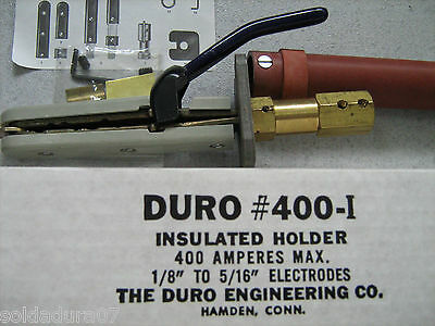 DURO ENGINEERING Co 400-I Welding Electrodes Holder Insulated 400 Amp - Made USA