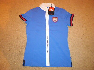 Eurostar short sleeve competition show shirt strong blue size small UK 10