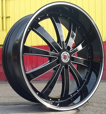 24 Inch Rsw77B Rims & Tires Dodge Challenger Charger Magnum Chrysler 300C 5X115