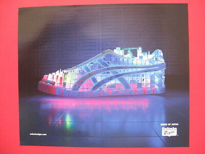 2008 Onitsuka Tiger Japan Art Lighted Building Shoe Magazine Page Print Ad