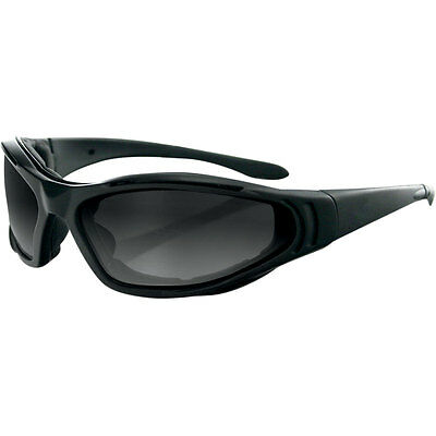 Bobster Black Raptor II Interchangeable Lens Motorcycle Riding Sunglasses
