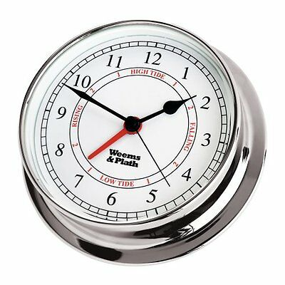 Weems & Plath Endurance Collection 125 Time and Tide Clock (Chrome), New, Free S