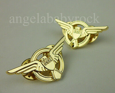 Strategic Scientific Reserve lapel SSR Pin captain america Agent Carter pin pair