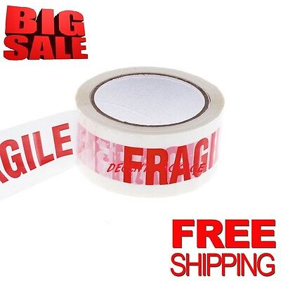BIG STRONG ROLLS PRINTED FRAGILE-PACKAGING-PARCEL-TAPE 48mm x 66m BOX PACKAGING