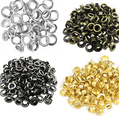500pcs 2mm - 20mm Iron Eyelets Grommets Clothing Repair DIY Leathercraft Banners