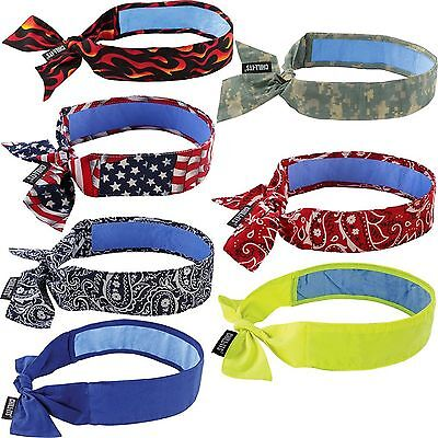 ERGODYNE CHILL-ITS® 6700CT EVAPORATIVE COOLING BANDANA - TIE Free Shipping