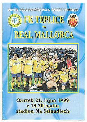 Teplice v Real Mallorca, 1999/2000 - UEFA Cup 2nd Round Match Programme