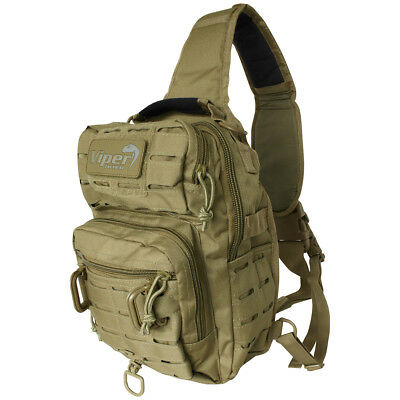 Viper Lazer Shoulder Pack MOLLE Carry Bag Student Camping Hiking 10L Coyote Tan