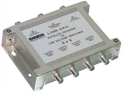 Konig 3/4 Multiswitch with 2 inputs for an LNB and 1 terrestrial input