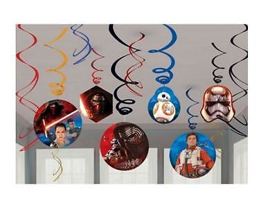 Star Wars The Force Awakens Birthday Party Swirl Decorations