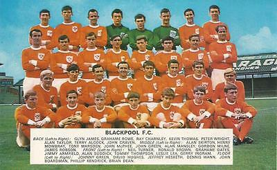 Blackpool 1967-68.team Photo Print.
