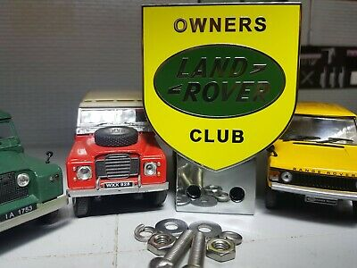 Land Rover Owners Club Classic Series 1 2 2a 3 Front Panel Metal Grille Badge