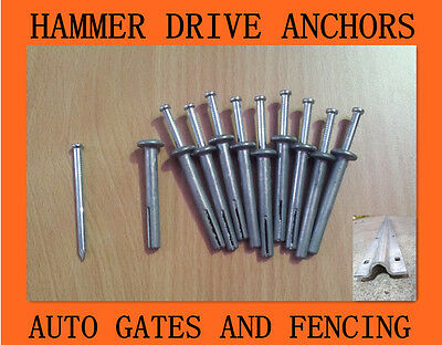 Zinc Alloy Pin Anchors for Sliding Gate Track 6.5mm x 40mm