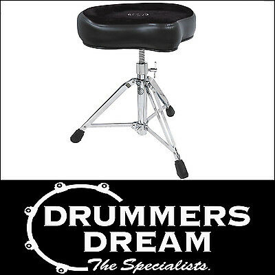 ROC-N-SOC Drum Throne Manual Spindle Black Saddle Style  / Stool BAND NEW