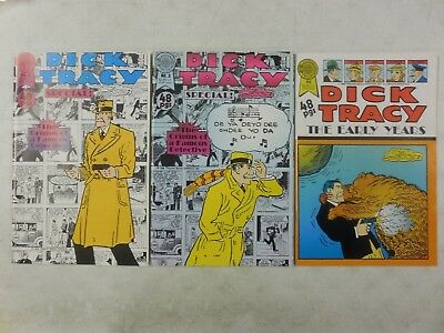 3x DICK TRACY Special # 2 & 3 EARLY YEARS # 4 ~ RARE 1989 HTF ~1930's Strips