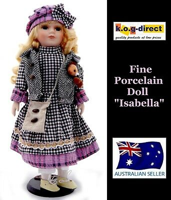 Collectable Fine Porcelain Doll Isabella New 40Cm Tall B27 D