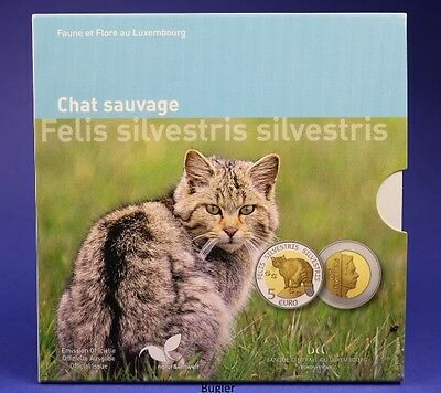 Luxemburg 2015 5 Euro Wildkatze proof pp