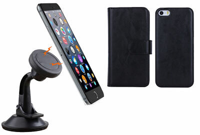 Magnetic Quick Snap Car Suction Mount Leather Credit Card Case Iphone 6 / 6 Plus