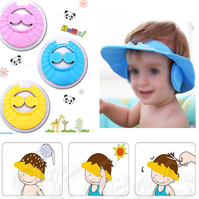 Adjustable Shampoo Shower Bathing Protect Ear Wash Hair Cap Hat for Baby Kids